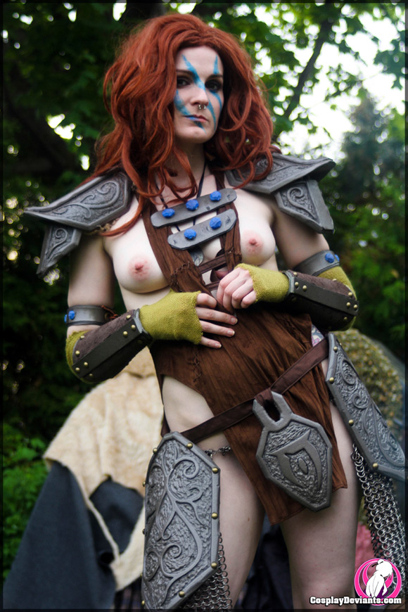 alli-apocalips-huntress-naked-cosplay-deviant